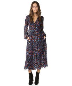 Cynthia Rowley | Платье-Халат С Цветочным Рисунком В Фольклорном Стиле И Открытой Спиной
