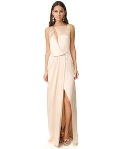 Halston Heritage | Драпированное Вечернее Платье С Вырезом