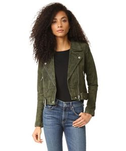 Blank Denim | Байкерская Куртка Из Натуральной Замши
