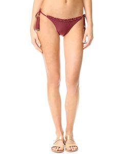 Vix Swimwear | Плавки Бикини Burgundy С Завязками