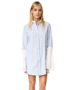 Clu | Полосатая Рубашка-Туника На Пуговицах
