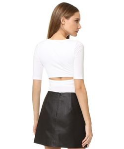 T By Alexander Wang | Short Sleeve Back Slit Tee