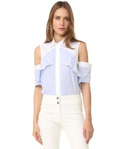 J. Mendel | Ruffle Shoulder Blouse