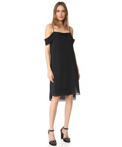 T By Alexander Wang | Pleated Off Shoulder Silk Dress