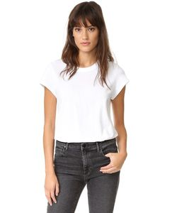 T By Alexander Wang | Cap Sleeve Fitted Tee Bodysuit