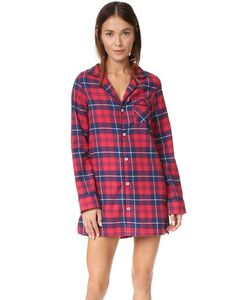 Three J NYC   Фланелевая Ночная Рубашка Audrey