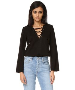 maven west | Katy Lace Up Bell Sleeve Top