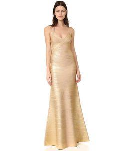 Hervé Léger | Длинное Платье С Американской Проймой