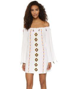 Pia Pauro | Пляжное Платье С Вышивкой И Открытыми Плечами