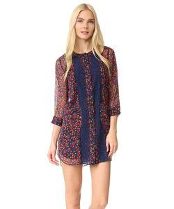 Anna Sui | Платье-Рубашка Из Жатого Шифона С Принтом В Виде Фиалок