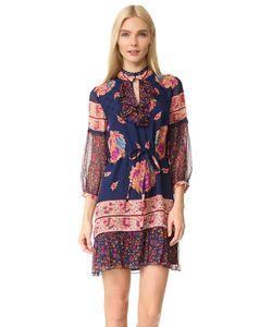 Anna Sui | Шелковое Платье С Принтом Bouquet Scarf
