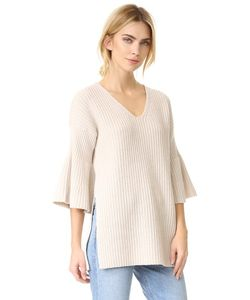 Derek Lam 10 Crosby | V Neck Tunic Sweater With Bell Sleeves