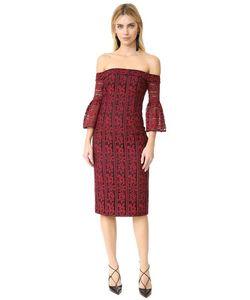 Cynthia Rowley | Облегающее Платье С Открытыми Плечами Из Кружева В Полоску С Цветочным