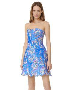 Monique Lhuillier | Lace Strapless Dress