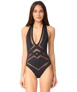 OYE Swimwear | Сплошной Купальник Bane С Глубоким V-Образным Вырезом