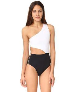 OYE Swimwear | Сплошной Купальник На Одно Плечо Kim С Вырезом