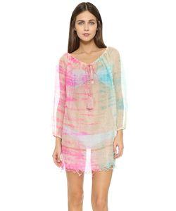 Juliet Dunn | Пляжное Платье Окрашенное В Стиле Узелкового Батика