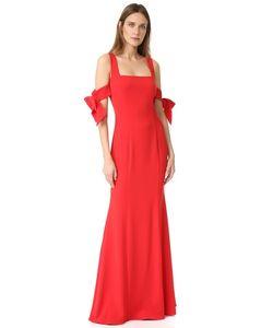 Badgley Mischka | Платье С Бантами На Рукавах