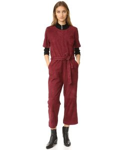 Just Female | Rufus Suede Jumpsuit
