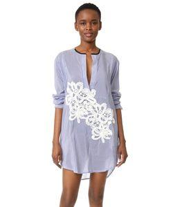 Lila Eugenie | Платье-Рубашка В Полоску Jesi Flower