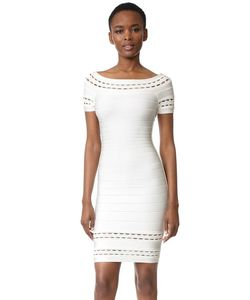 Hervé Léger | Marija Boat Neck Dress