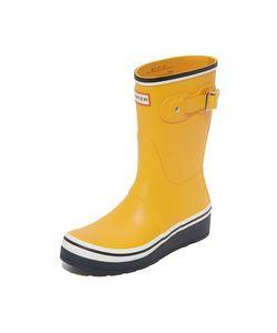 Hunter Boots | Оригинальные Короткие Ботильоны Buoy В Полоску На Танкетке