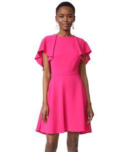 Monique Lhuillier | Flutter Sleeve Dress