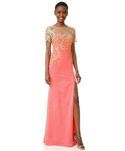 Marchesa Notte | Вечернее Платье Из Эластичного Крепа