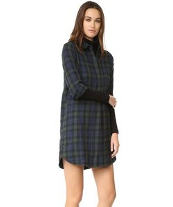 Madewell | Plaid Flannel Side Button Dress