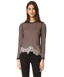 3.1 Phillip Lim | Long Sleeve Embroidered Crop Top