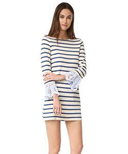 Sea | Платье С Полосками И Кружевным Шитьем