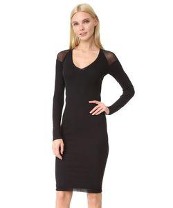 Fuzzi   Платье С Длинными Рукавами И V-Образным Вырезом