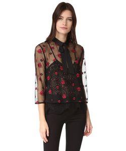 The Kooples | Блуза С Прозрачной Отделкой И Цветочным Рисунком