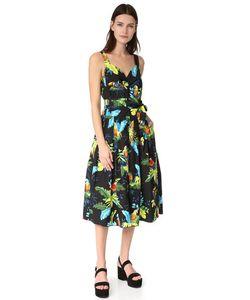 Marc Jacobs   Платье С Корсетным Лифом И Принтом В Виде Попугая