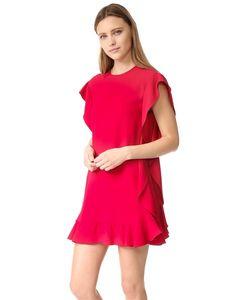 Red Valentino | Платье С Оборками Из Крепа
