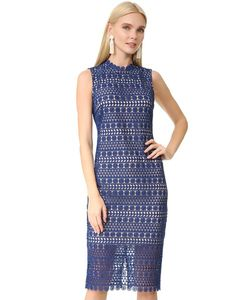 Shoshanna | Миди-Платье Geo Из Цветочного Кружева