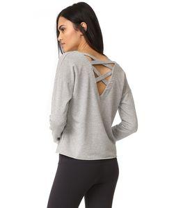 Splendid | Varsity Active Lace Back Sweatshirt