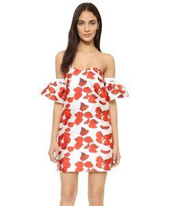re:named | Платье С Открытыми Плечами И Красными Лепестками