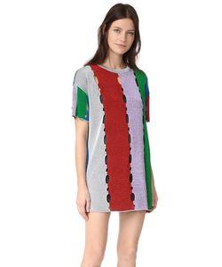 Missoni | Платье-Футболка В Полоску Из Металлизированной Ткани