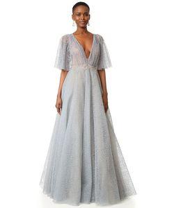 Marchesa | Вечернее Платье С Блестками Тюль