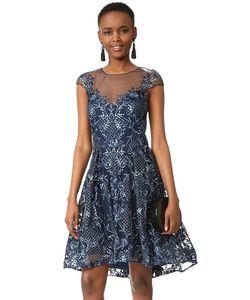 Marchesa Notte | Коктейльное Платье С Короткими Рукавами
