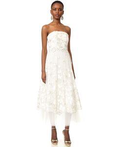 Marchesa Notte | Платье Без Бретелек Butterfly