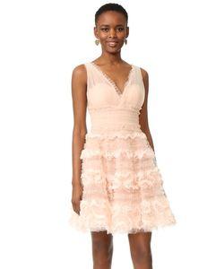 Marchesa Notte | Коктейльное Платье Из Тюля