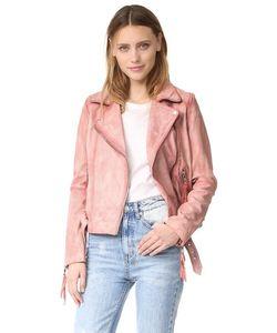 Free People | Розовая Кожаная Байкерская Куртка