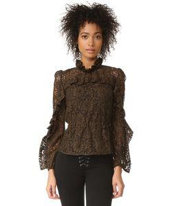 Sonia By Sonia Rykiel | Кружевная Блуза С Высоким Вырезом