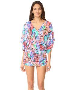 Luli Fama | Платье С Вырезом Великолепный Хаоса Cabana С Цветным V-Образным Вырезом