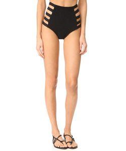 Tori Praver Swimwear | Одноцветные Плавки Vera Ремешками С Высокой Талией