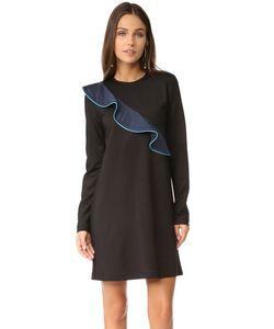 Ganni | Платье С Оборками И Роджерс