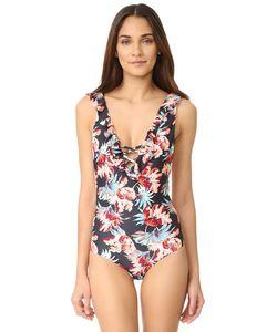 Tori Praver Swimwear | Сплошной Купальник Милош-Цветочным Рисунком Victoria С Оборками
