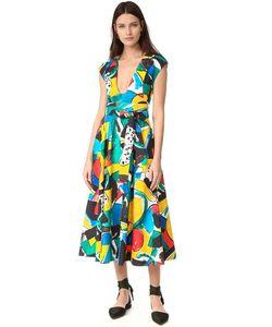 Stella Jean | Короткие Рукава Расклешенное Платье